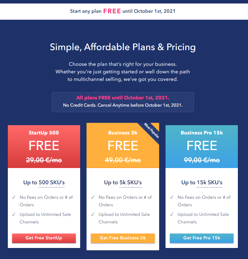 sellbery pricing plans